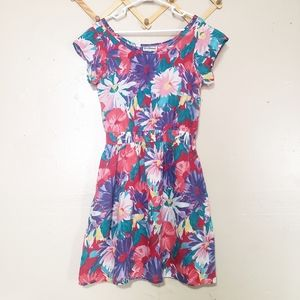 Vintage | Short Sleeve | Floral Mini Dress| Size M